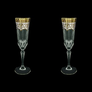 Adagio CFL AEGW Champagne Flutes 180ml 2pcs in Flora´s Empire Golden White D. (21-594/2)