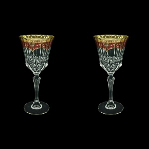 Adagio C2 AEGR Wine Glasses 280ml 2pcs in Flora´s Empire Golden Red Decor (22-593/2)