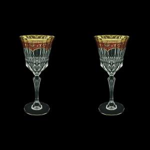 Adagio C2 AEGR Wine Glasses 280ml 2pcs in Flora´s Empire Golden Red Decor (22-593/2)