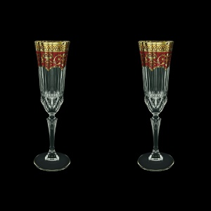 Adagio CFL AEGR Champagne Flutes 180ml 2pcs in Flora´s Empire Golden Red Decor (22-594/2)