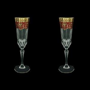 Adagio CFL AEGR Champagne Flutes 180ml 2pcs in Flora´s Empire Golden Red Decor (22-594/2)
