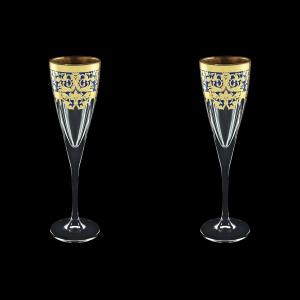 Fusion CFL F0023 Champagne Flutes 170ml 2pcs in Natalia Golden Blue Decor (F0023-0110=2)