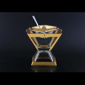 Torcello KSD TNGC Caviar Set w/F 14x14cm 1pc in Romance Golden Classic Decor (33-960)