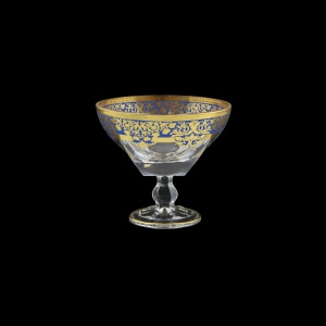 Fusion MMH F0023 Small Bowl w/F d13cm 1pc in Natalia Golden Blue Decor (F0023-016L)