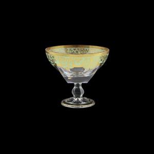 Fusion MMH F002T Small Bowl w/F d13cm 1pc in Natalia Golden Turquoise Decor (F002T-016L)
