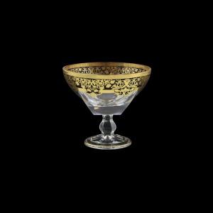 Fusion MMH F0026 Small Bowl w/F d13cm pc in Natalia Golden Black Decor (F0026-016L)