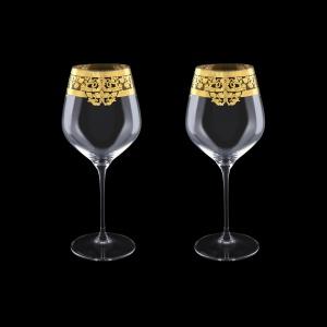 Supreme CWB F0020 Burgundy Glass 840ml, 2pcs in Natalia Golden Crystal D. (F0020-4017=2)