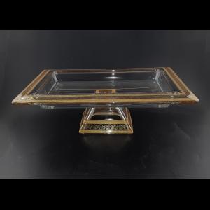 Torcello QTD b TALK Tray w/F 40x30cm 1pc in Allegro Golden Light Decor (65-1G93/L)