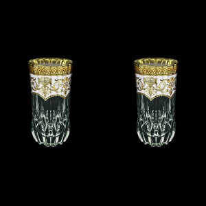 Adagio B0 AEGW Water Glasses 400ml 2pcs in Flora´s Empire Golden White Decor (21-596/2)