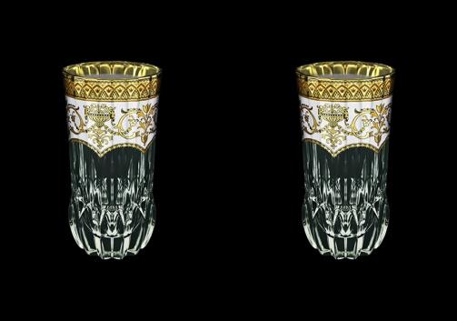 Adagio B0 AEGW Water Glasses 400ml 2pcs in Flora´s Empire Golden White Decor (21-596/2)