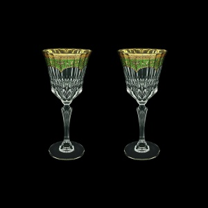 Adagio C2 AEGG Wine Glasses 280ml 2pcs in Flora´s Empire Golden Green Decor (24-593/2)