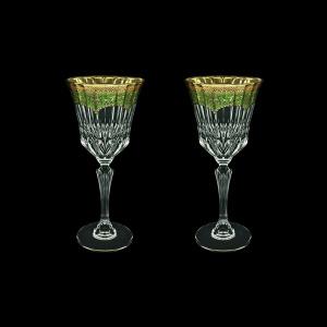 Adagio C2 AEGG Wine Glasses 280ml 2pcs in Flora´s Empire Golden Green Decor (24-593/2)