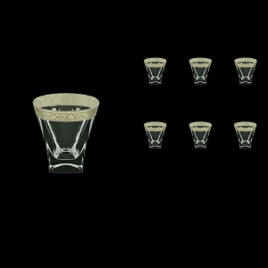 Fusion B2 FNPC Whisky Glasses 270ml 6pcs in Romance Platinum Classic Decor (33-1/397)