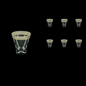 Fusion B3 FNPC Whisky Glasses 200ml 6pcs in Romance Platinum Classic Decor (33-1/437)