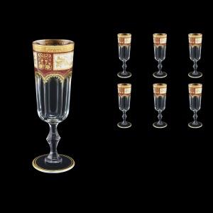 Provenza CFL F0012 Champagne Flute 160ml  6pcs in Diadem Golden Red (F0012-0010)