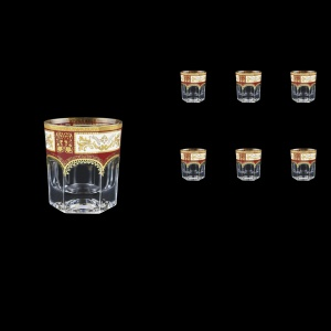 Provenza B3 F0012 Whisky Glasses 185ml 6pcs in Diadem Golden Red (F0012-0003)