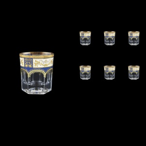 Provenza B3 F0013 Whisky Glasses 185ml 6pcs in Diadem Golden Blue (F0013-0003)