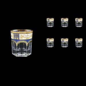 Provenza B2 F0013 Whisky Glasses 280ml 6pcs in Diadem Golden Blue (F0013-0002)
