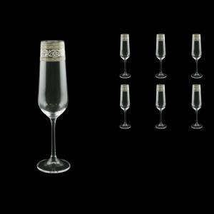 Strix CFL SASK Champagne Flute in Allegro Platinum Crystal L, 200ml, 6pcs (65-1/2210/L)