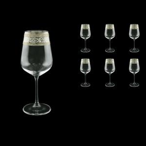 Strix C2 SASK Red Wine Glasses in Allegro Platinum Crystal L, 450ml, 6pcs (65-1/2212/L)