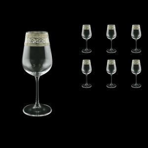 Strix C3 SASK White Wine Glasses in Allegro Platinum Crystal L., 360ml, 6pcs (65-1/2213/L)
