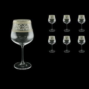 Strix CWR SASK Red Wine Glasses in Allegro Platinum Crystal L., 600ml, 6pcs (65-1/2216/L)