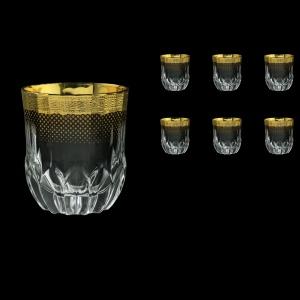 Adagio B2 F0050 Whisky Glasses 350ml 6pcs  in Rio Golden Crystal Decor (F0050-0402)