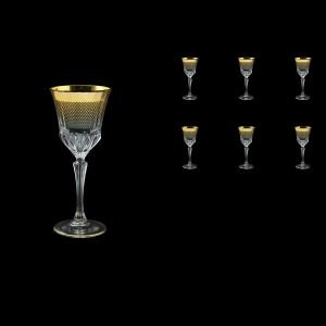 Adagio C3 F0050 Wine Glasses 220ml 6pcs in Rio Golden Crystal Decor (F0050-0413)