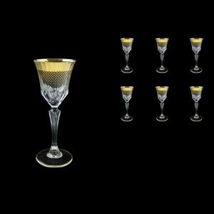 Adagio C5 F0050 Liqueur Stemware 80ml, 6pcs, in Rio Golden Crystal Decor (F0050-0415)