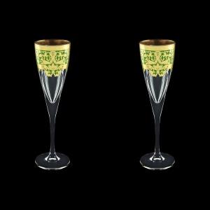 Fusion CFL F0024 Champagne Flutes 170ml 2pcs in Natalia Golden Green Decor (F0024-0110=2)