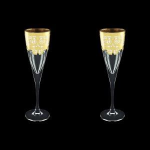 Fusion CFL F0021 Champagne Flutes 170ml 2pcs in Natalia Golden White Decor (F0021-0110=2)