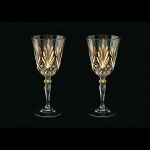 Melodia C2 MPG Wine Glasses 270ml 2pcs in Platinum&Gold (1203/2)