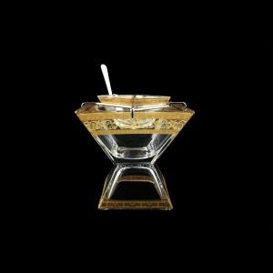 Torcello KSD TALK Caviar Set w/F 14x14cm 1pc in Allegro Golden Light Decor (65-960/L)