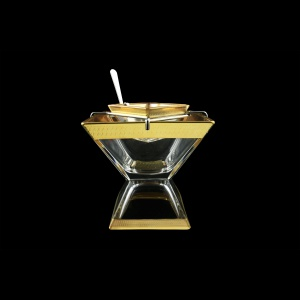 Torcello KSD A004G Caviar Set w/F 14x14cm 1pc in Royal Golden Embossed L. (A004G-960/L)