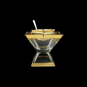 Torcello KSD F0050 Caviar Set w/F 14x14cm 1pc in Rio Golden Crystal Decor (F0050-960)