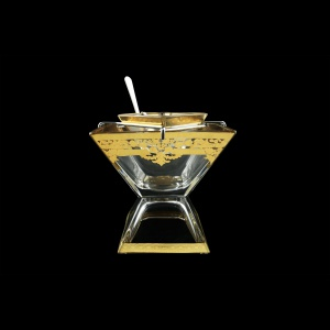 Torcello KSD F0020 Caviar Set w/F 14x14cm 1pc in Natalia Golden Crystal (F0020-969)