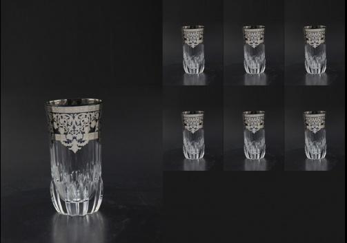 Adagio B0 F0020-1 Water Glasses 400ml 6pcs in Natalia Platinum Crystal (F0020-1-0400-L)