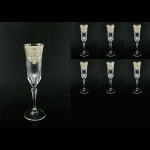 Adagio CFL F0020-1 Champagne Flutes 180ml 6pcs in Natalia Platinum Cryst. (F0020-1-0410-L)