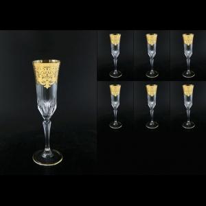 Adagio CFL F0020 Champagne Flutes 180ml 6pcs in Natalia Golden Cryst. (F0020-0410-L)