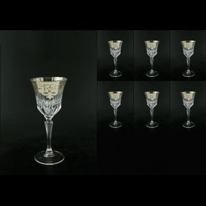 Adagio C2 F0020-1 Wine Glasses 280ml 6pcs in Natalia Platinum Crystal (F0020-1-0412-L)