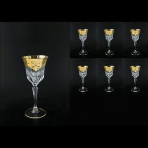Adagio C2 F0020 Wine Glasses 280ml 6pcs in Natalia Golden Crystal (F0020-0412-L)