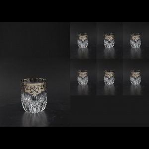 Adagio B2 F0020-1 Whisky Glasses 350ml 6pcs in Natalia Platinum Crystal (F0020-1-0402-L)
