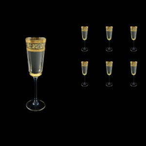 Macassar CFL MALK Champagne Flute 170ml, 6pcs in Allegro Golden Light (65-9010/L)
