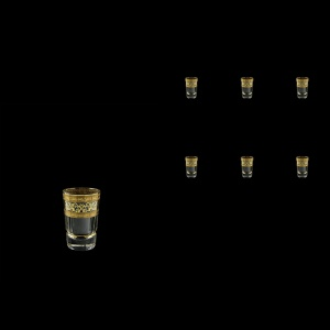 Macassar B5 MALK Liqueur Tumblers 60ml, 6pcs in Allegro Golden Light (65-9005/L)