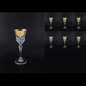 Adagio C5 F0020 Liqueur Glasses 80ml 6pcs in Natalia Golden Crystal Decor (F0020-0415-L)