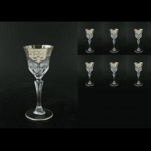 Adagio C3 F0020-1 Wine Glasses 220ml 6pcs in Natalia Platinum Crystal D. (F0020-1-0413-L)
