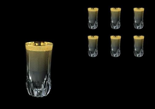 Adagio B0 F0050 Water Glasses 400ml 6pcs  in Rio Golden Crystal Decor (F0050-0400)