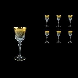 Adagio C4 F0050 Wine Glasses 150ml 6pcs in Rio Golden Crystal Decor (F0050-0414)