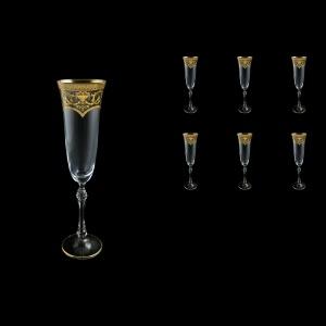 Parus CFL PEGK Champagne Flute 190ml, 6 pcs in Flora´s Empire Golden Crystal (20-2510/L)