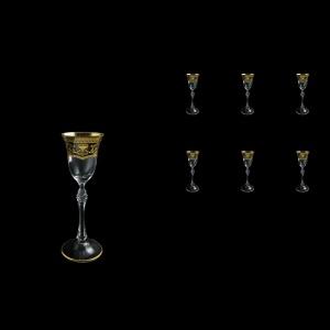 Parus C5 PEGK Liqueur Glasses 60ml, 6 pcs in Flora´s Empire Golden Crystal D. (20-2515/L)